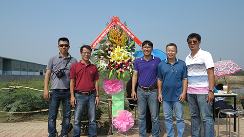 GROUNDBREAKING CEREMONY FOR THE FACTORY OF FILTER BAGS  IN TAN PHU TRUNG INDUSTRIAL ZONE - CU CHI DISTRICT