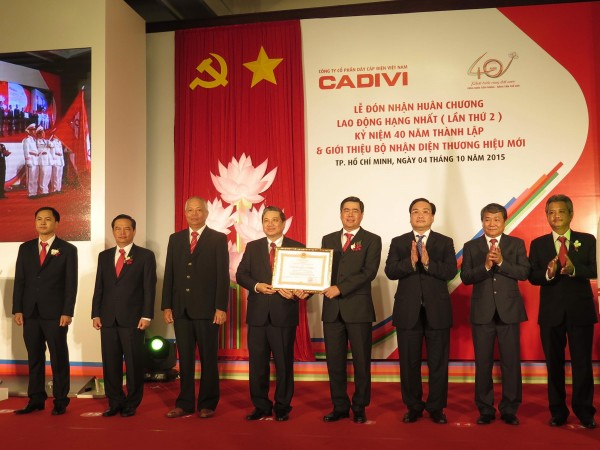 CONGRATULATIONS TO CADIVI AT ITS 40TH ANNIVERSARY OF CONSTRUCTION AND DEVELOPMENT IN THE DOMESTIC & INTERNATIONAL MARKETS