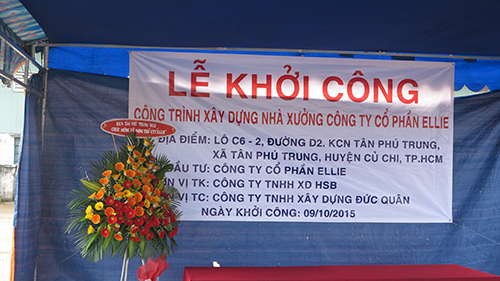 ELLIE JSC. HELD THE GROUNDBREAKING CEREMONY FOR ITS CHEMICAL COSMETICS PLANT AT TAN PHU TRUNG INDUSTRIAL ZONE