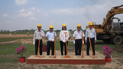 GROUND BREAKING CEREMONY FOR CONSTRUCTION OF THE LOT C1-6 FACTORY AT TAN PHU TRUNG INDUSTRIAL ZONE