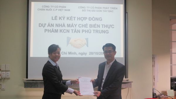 "C.P VIETNAM LIVESTOCK CORPORATION HAS COMMENCED CONSTRUCTION OF THE PROJECT ""FOOD PROCESSING PLANT FROM CATTLE, POULTRY AND SEAFOOD"" AT TAN PHU TRUNG INDUSTRIAL PARK"